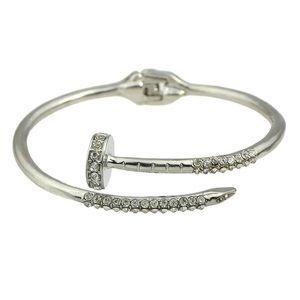 Nail bracelet with pave cz's